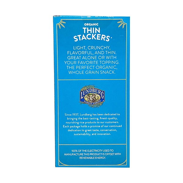 Organic Lightly Salted Brown Rice Thin Stackers, 6 oz 3