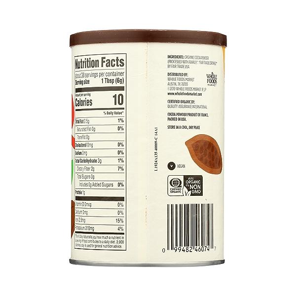 Organic Cocoa Powder, Unsweetened, 8 oz 7