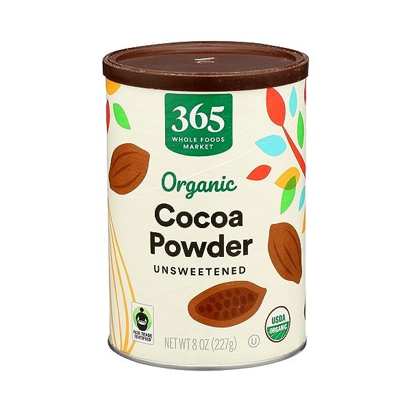 Organic Cocoa Powder, Unsweetened, 8 oz 1