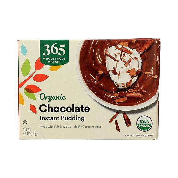 Organic Instant Pudding, Chocolate, 3.9 oz 3