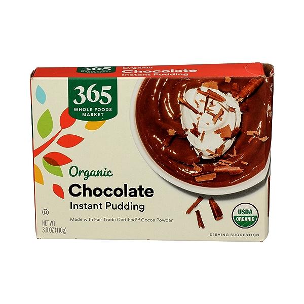 Organic Instant Pudding, Chocolate, 3.9 oz 1