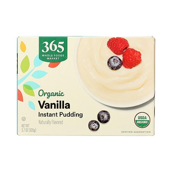 Organic Instant Pudding, Vanilla, 3.7 oz 3