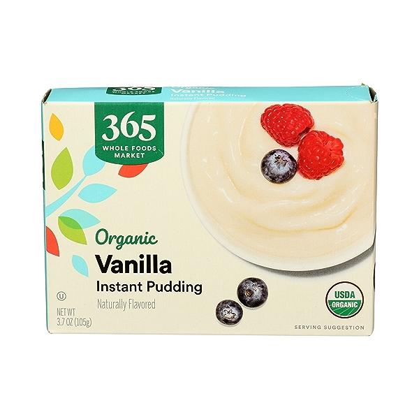 Organic Instant Pudding, Vanilla, 3.7 oz 1