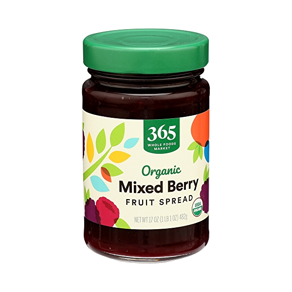 Organic Fruit Spread, Mixed Berry, 17 oz 2