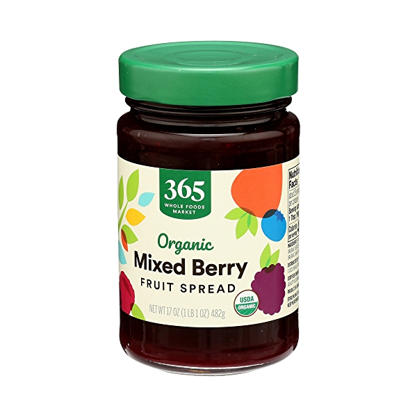 Organic Fruit Spread, Mixed Berry, 17 oz 4