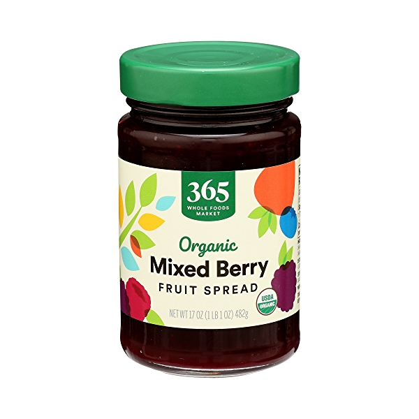 Organic Fruit Spread, Mixed Berry, 17 oz 1