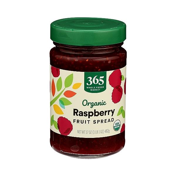 Organic Fruit Spread, Raspberry, 17 oz 2