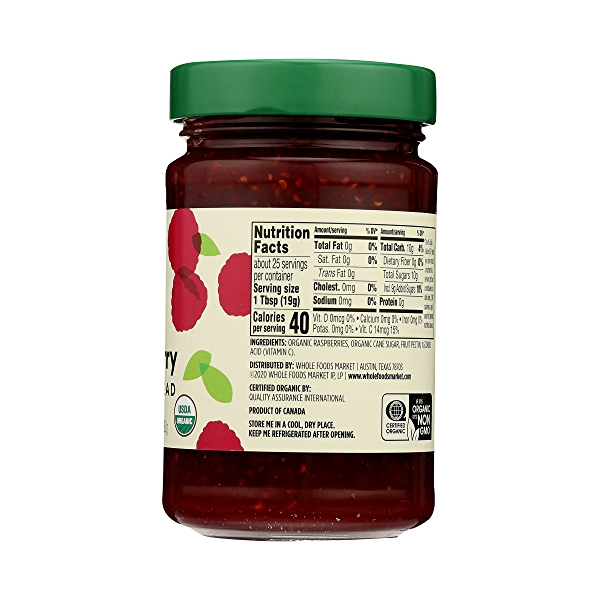 Organic Fruit Spread, Raspberry, 17 oz 8