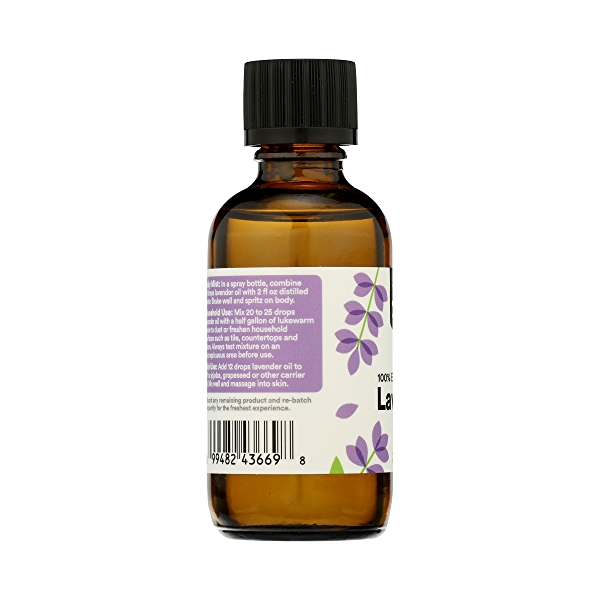 Aromatherapy 100% Essential Oil, Lavendar, 2 fl oz 5