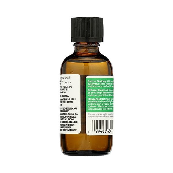 Aromatherapy 100% Essential Oil, Eucalyptus, 2 fl oz 7