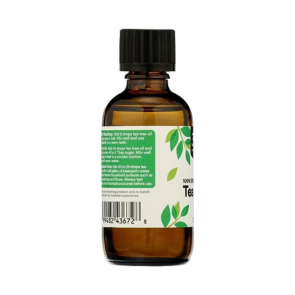 Aromatherapy 100% Essential Oil, Tea Tree, 2 fl oz 5