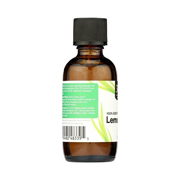 Aromatherapy 100% Essential Oil, Lemongrass, 2 fl oz 5