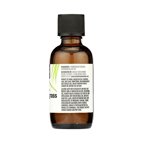 Aromatherapy 100% Essential Oil, Lemongrass, 2 fl oz 8