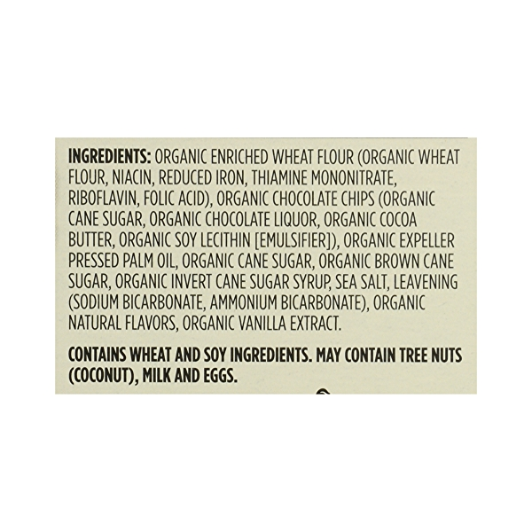Organic Cookies, Chocolate Chip, 12 oz 12