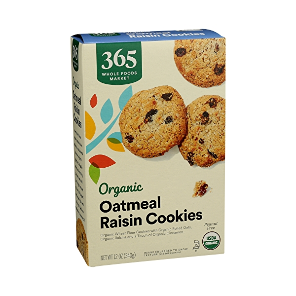 Organic Cookies, Oatmeal Raisin, 12 oz 2