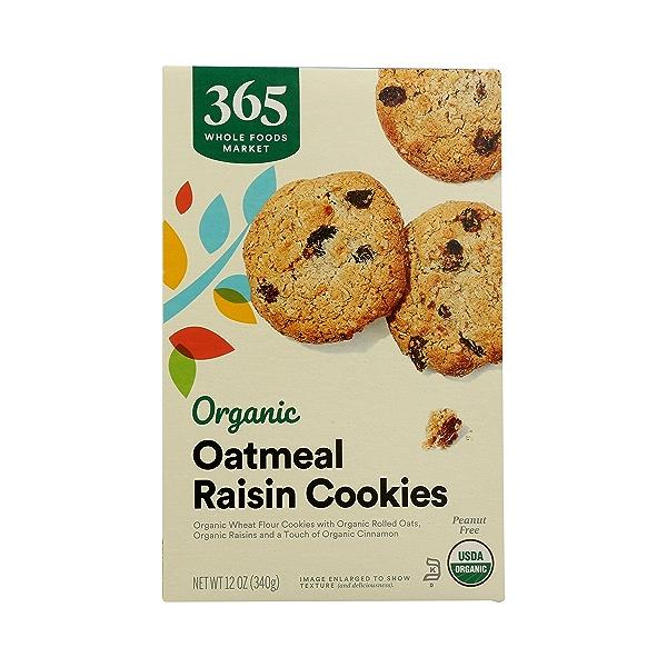 Organic Cookies, Oatmeal Raisin, 12 oz 3