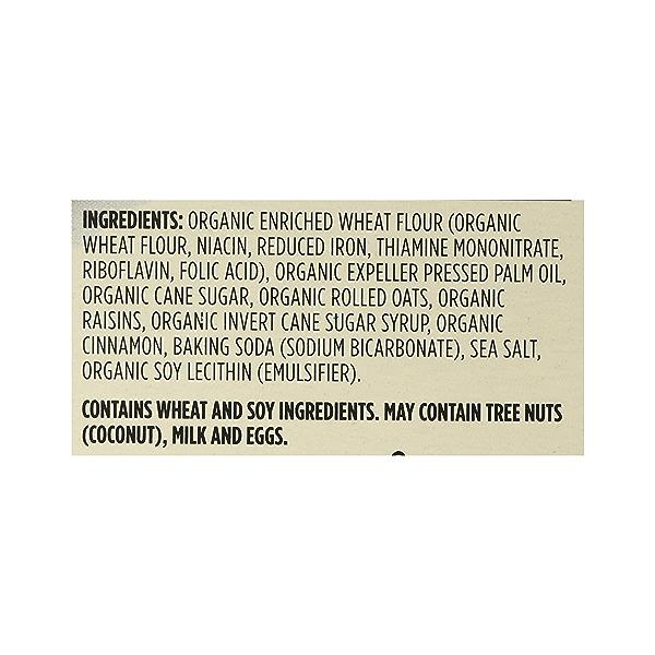 Organic Cookies, Oatmeal Raisin, 12 oz 12