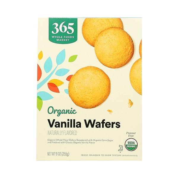 Organic Cookies, Vanilla Wafers, 9 oz 3