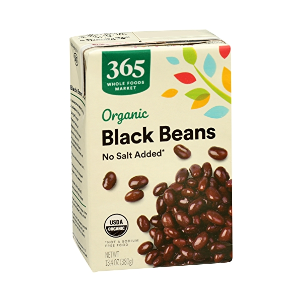 Organic Shelf-Stable Beans, Black - No Salt Added, 13.4 oz 2