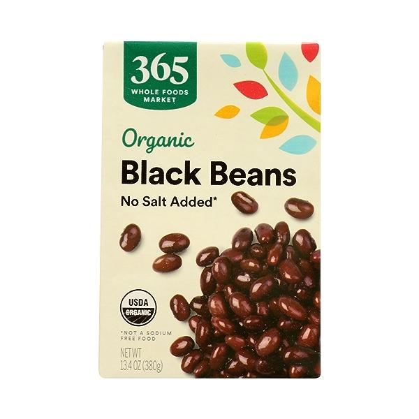 Organic Shelf-Stable Beans, Black - No Salt Added, 13.4 oz 3