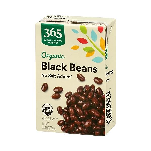 Organic Shelf-Stable Beans, Black - No Salt Added, 13.4 oz 4