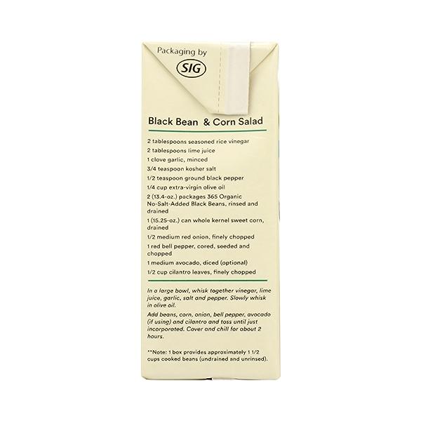 Organic Shelf-Stable Beans, Black - No Salt Added, 13.4 oz 5