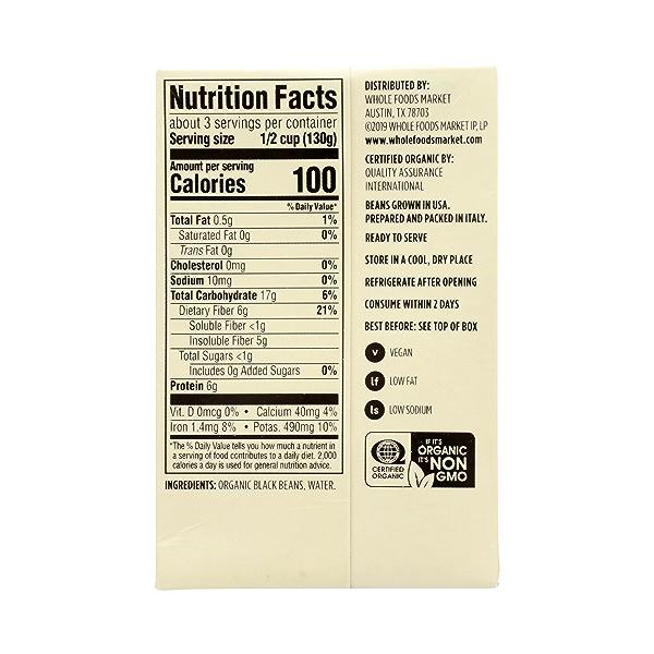 Organic Shelf-Stable Beans, Black - No Salt Added, 13.4 oz 7