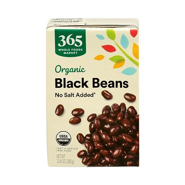 Organic Shelf-Stable Beans, Black - No Salt Added, 13.4 oz 1