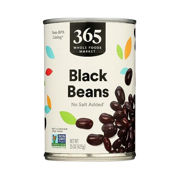 Shelf-Stable Beans, Black - No Salt Added, 15 oz 3