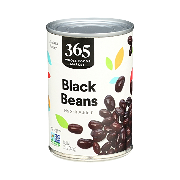 Shelf-Stable Beans, Black - No Salt Added, 15 oz 4