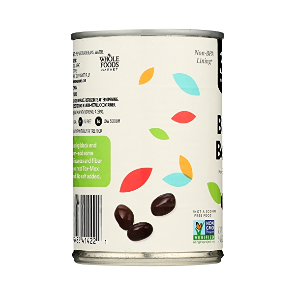 Shelf-Stable Beans, Black - No Salt Added, 15 oz 5
