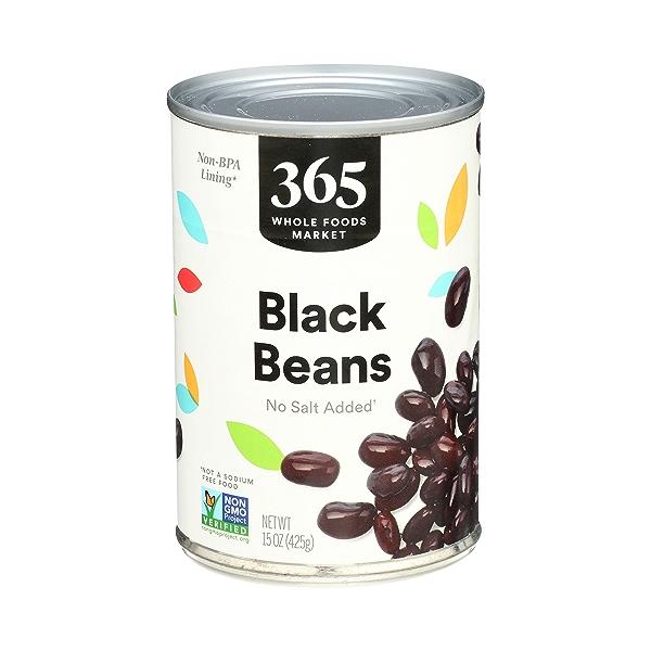 Shelf-Stable Beans, Black - No Salt Added, 15 oz 1