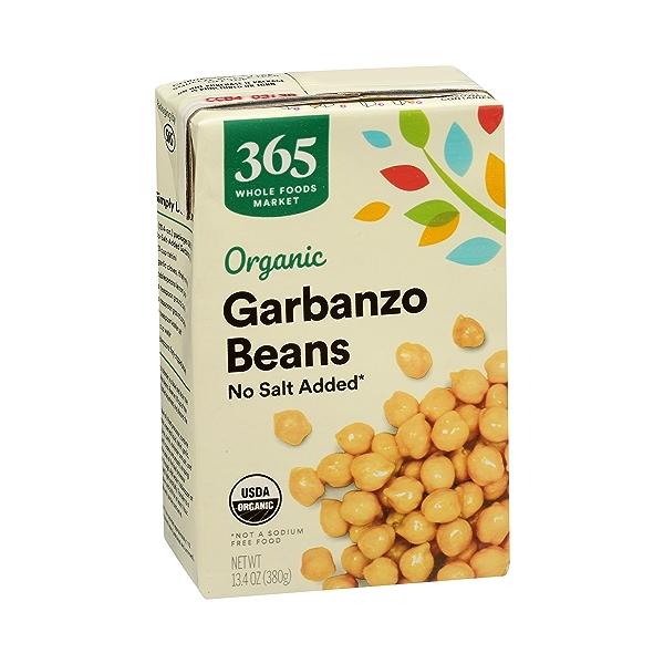 Organic Shelf-Stable Beans, Garbanzo - No Salt Added, 13.4 oz 2