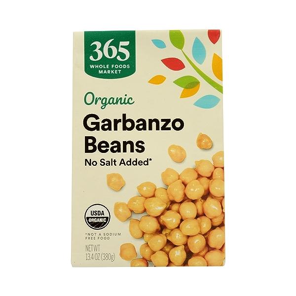 Organic Shelf-Stable Beans, Garbanzo - No Salt Added, 13.4 oz 3