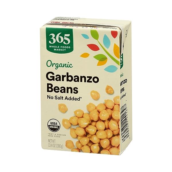 Organic Shelf-Stable Beans, Garbanzo - No Salt Added, 13.4 oz 4