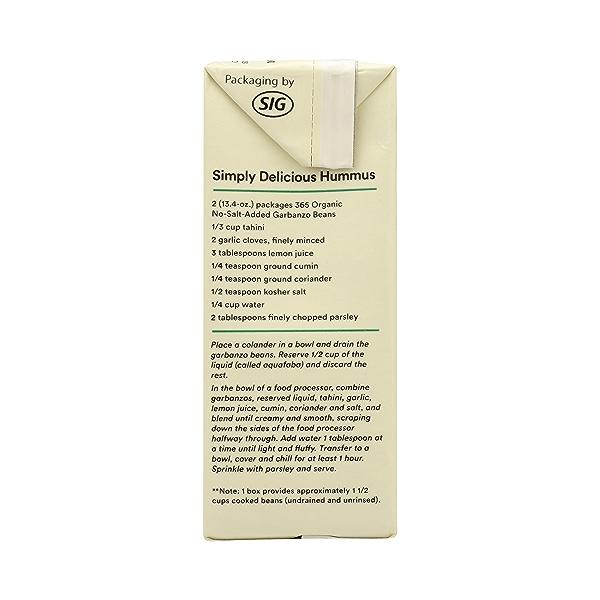 Organic Shelf-Stable Beans, Garbanzo - No Salt Added, 13.4 oz 5