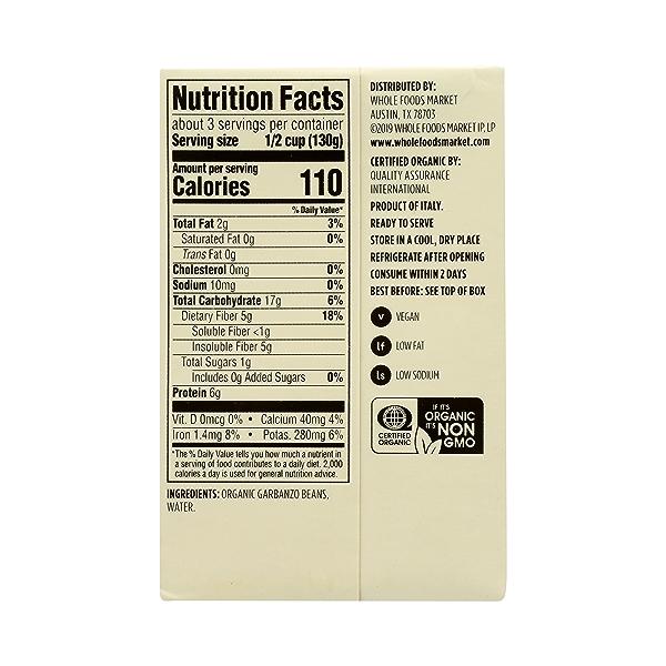 Organic Shelf-Stable Beans, Garbanzo - No Salt Added, 13.4 oz 7
