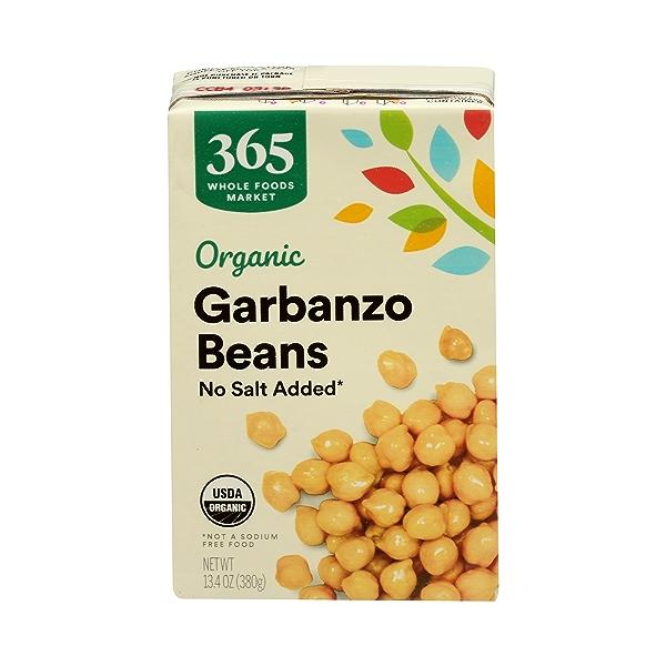 Organic Shelf-Stable Beans, Garbanzo - No Salt Added, 13.4 oz 1