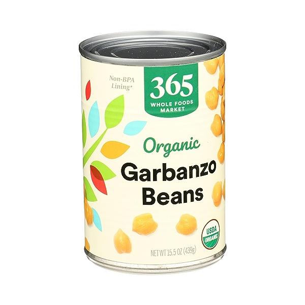 Organic Shelf-Stable Beans, Garbanzo, 15.5 oz 2