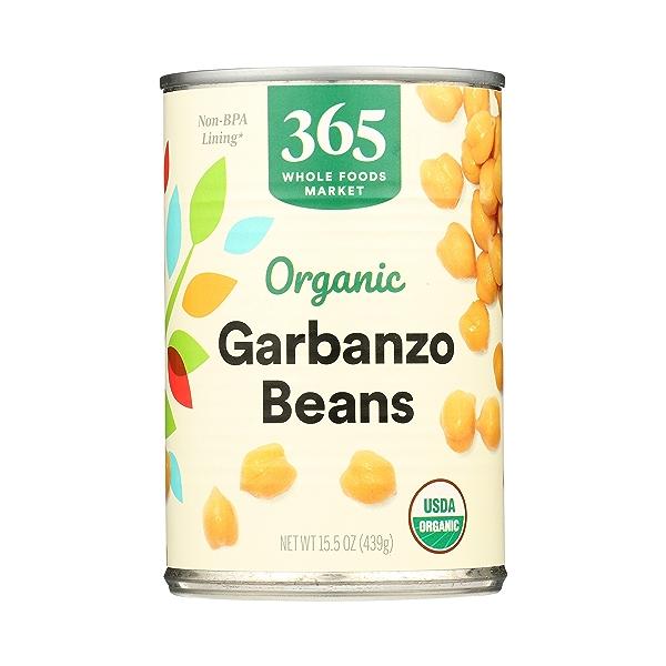 Organic Shelf-Stable Beans, Garbanzo, 15.5 oz 3