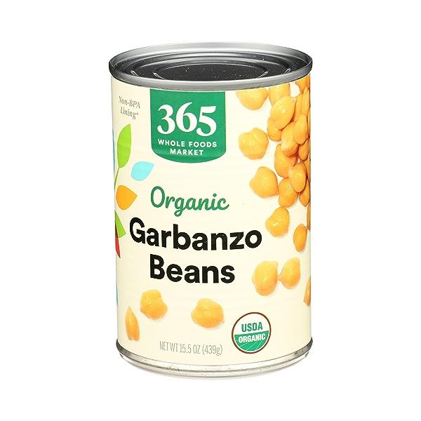 Organic Shelf-Stable Beans, Garbanzo, 15.5 oz 4