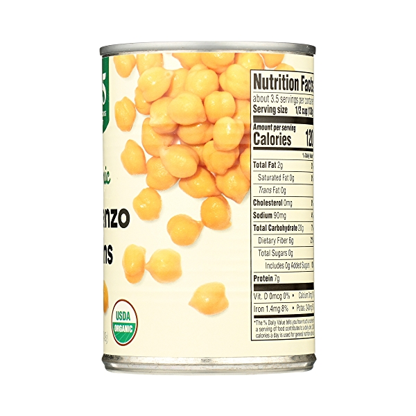 Organic Shelf-Stable Beans, Garbanzo, 15.5 oz 8