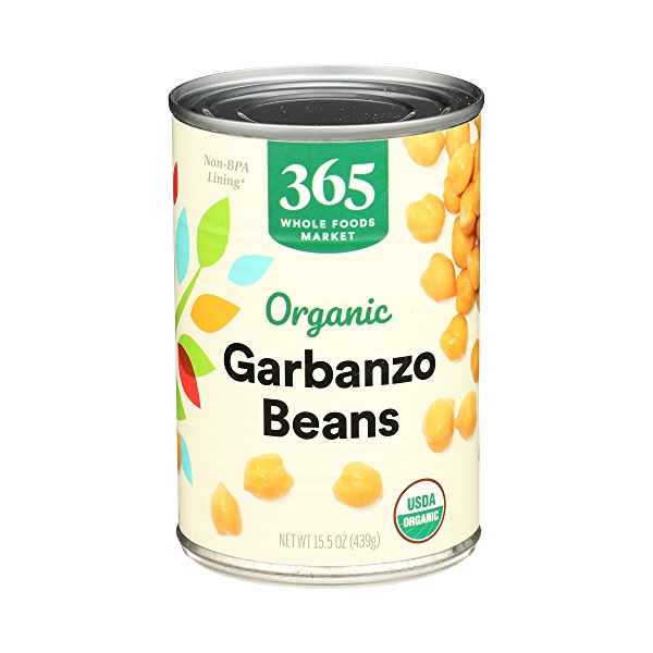 Organic Shelf-Stable Beans, Garbanzo, 15.5 oz 1