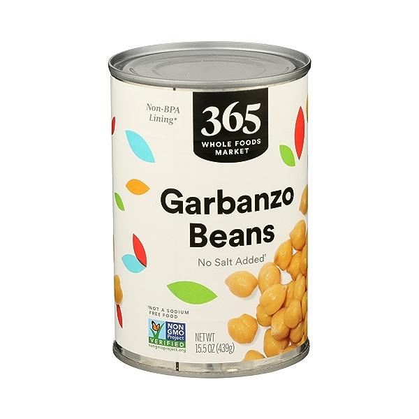 Shelf-Stable Beans, Garbanzo - No Salt Added, 15.5 oz 2