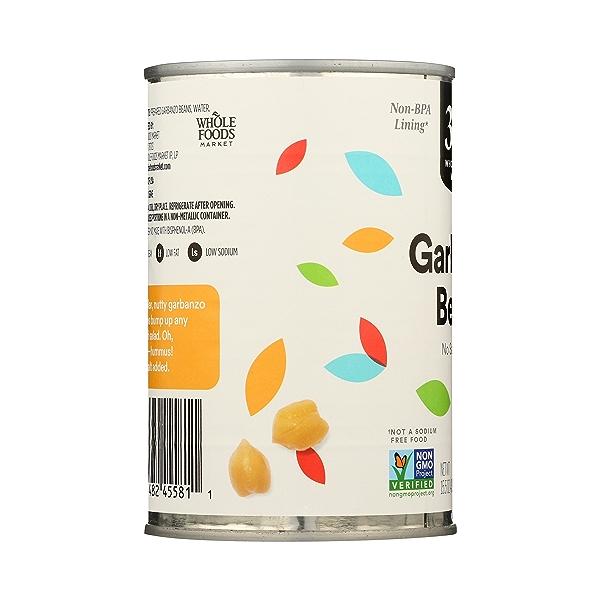 Shelf-Stable Beans, Garbanzo - No Salt Added, 15.5 oz 5