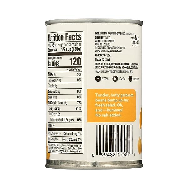 Shelf-Stable Beans, Garbanzo - No Salt Added, 15.5 oz 7