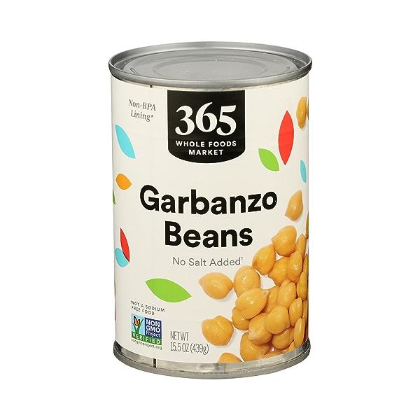 Shelf-Stable Beans, Garbanzo - No Salt Added, 15.5 oz 1