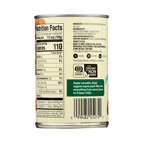 Organic Shelf-Stable Beans, Pinto, 15.5 oz 7