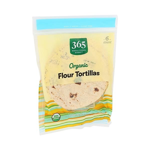 Organic Tortillas, Flour (6 Tortillas), 12 oz 2