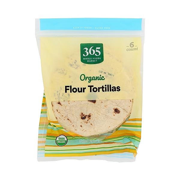 Organic Tortillas, Flour (6 Tortillas), 12 oz 3
